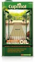 CUPRINOL NATURAL DECKING OIL UV GUARD WOOD PROTECTION RESTORE WOOD 5L LITRE